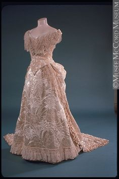 Evening Dress, 1885, via The McCord Museum.