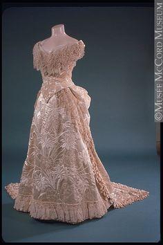 Evening Dress, 1885, via The McCord Museum.