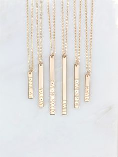 Personalized Roman Numeral Vertical Bar Necklace / Customized 14k Gold Filled, Sterling Silver, 14k Rose Gold Fill, GLDN GN130_V by GLDNjewelry on Etsy https://www.etsy.com/listing/290704101/personalized-roman-numeral-vertical-bar