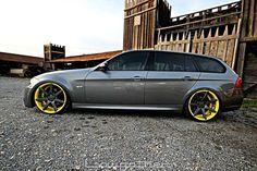 BMW 3 Series Wagon on Vossen wheels Wagon Cars, Bmw Wagon, E61 Bmw, E91 Touring, Automobile, Bmw 7, Ac Schnitzer, Bavarian Motor Works, Street Racing Cars