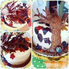 """14 """"Μου αρέσει!"""", 3 σχόλια - Irene-Armida Gidali (@elvira_rene1976) στο Instagram: """"#cakedecorating #autumncake #treedecoration #applecake #caramel#birthdaycake"""""""