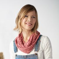 Midsummer #Cowl - Airy lace and picot stitches form a quick-to-make #crochet pattern.