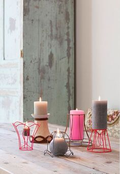 candle holders from lightning frames