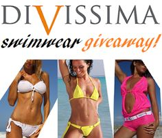 Enter the Divissima Swimwear Giveaway to win beach wear or a swimsuit of your choice!