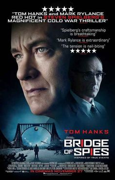 A great poster for Steven Spielberg's 2016 Cold War spy-thriller movie Bridge of Spies! Starring Tom Hanks and Mark Rylance. Ships fast. 11x17 inches. Need Poster Mounts..?
