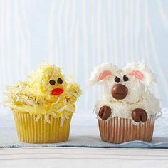 Lamb and Ducky Cupcakes From Better Homes and Gardens, ideas and improvement projects for your home and garden plus recipes and entertaining ideas.