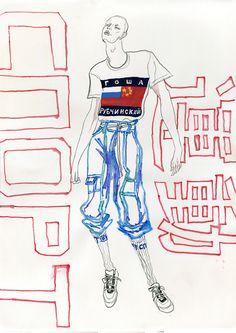 illustrations for Platinum Love Magazinefeaturing runway looks from Paris menswear fashion week fall/winter 2015Acne Studio  Gosha Rubchinskiy  LoeweRick OwensSaint Laurent  Walter Van Beirendonckhttp://platinumlove.co/fashion/kuan-jiia-paris-aw-2015