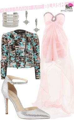 Styled pink prom dress P4834 | Flirt #flirtprom #blush #pink #prom #promdress