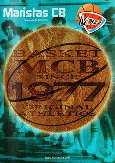 Diseño de portada y maquetación de la revista deportiva del club de baloncesto Maristas CB.