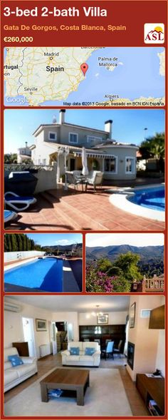 3-bed 2-bath Villa in Gata De Gorgos, Costa Blanca, Spain ►€260,000 #PropertyForSaleInSpain