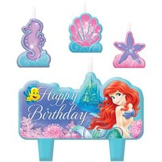 Amscan // Little Mermaid Candle Set | 4 ct - $5.15
