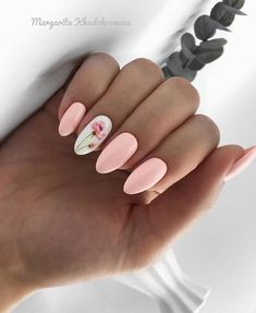Image about pink in Nails / Nail Polish / Vernis / Manicure by Mouna DramaQueen Spring Nail Art, Nail Designs Spring, Cute Nail Designs, Cute Spring Nails, Gel Nail Art Designs, Spring Design, Stylish Nails, Trendy Nails, Cute Acrylic Nails