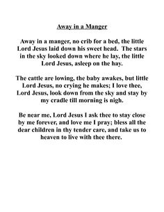 image relating to Lyrics to Away in a Manger Printable titled 35 Ideal Xmas Spirit 2013 pictures Xmas photographs