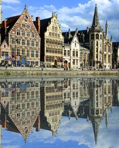 Ghent,Belgium,Largest City - Mix of new and old Medieval Architecture  via www.cool-story.com