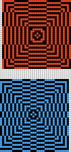 Artwork by at Grid Paint. Perler Patterns, Loom Patterns, Cross Stitch Patterns, Quilt Patterns, Beading Patterns, Knitting Charts, Knitting Stitches, Knitting Designs, Graph Paper Drawings
