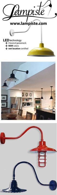 Manufacturers since UL listed Wet location. Finished with extremely durable catalysed urethane paint. Industrial Light Fixtures, Industrial Lighting, Barn Lighting, Outdoor Lighting, Industrial Farmhouse, Farmhouse Style, Signage Light, Gooseneck Lighting, Desk Lamp