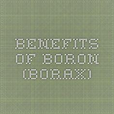 Benefits of Boron (Borax)