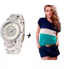 Relógio Feminino Dourado A Prova D Água Dia Dos Namorados - R$ 89,49