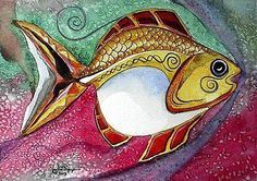 BEAUTIFUL, Original Fish Art from J. Vincent Scarpace, Artist. Works for sale.