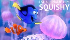 It's electrifying to make new friends. Right, Dory? #FindingNemo #Dory #Marlin