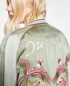 Image 6 of BIRD EMBROIDERED BOMBER JACKET from Zara