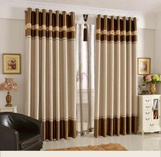 15 Latest Curtains Designs Home Design Ideas | PK Vogue Curtain Designs For Bedroom, Latest Curtain Designs, Window Curtain Designs, Curtain Styles, Curtain Ideas, Drapery Ideas, Living Room Decor Curtains, Home Curtains, Home Decor Bedroom