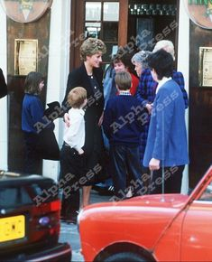"""April 20, 1993:  Princess Diana with Prince William and Prince Harry at """"Sticky Fingers"""""""