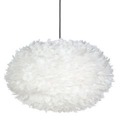 Grandiose in size, 5500 hand-applied brilliant white feathers adorn the circumference of our Whisper Feather Pendant.