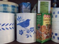 Stenciled Soup Cans