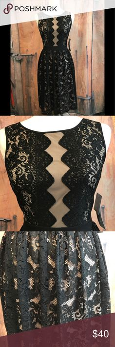 London Times NWT ❤️offers welcome❤️ Gorgeous black lace London Times dress with tan underneath. Size 2.  Smoke free home.  Next day shipping. Please feel free to ask any questions. Thank you for shopping my closet. Offers always welcome❤️ London Times Dresses
