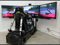 ▶ CXC Simulations Motion Pro II racing simulator - YouTube Epic Man cave addition