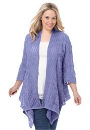 Plus Size Sweater, open front cardigan