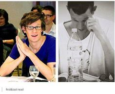 Matt's first and last read...I'm not crying, Matt Smith's just in my eye. :'(