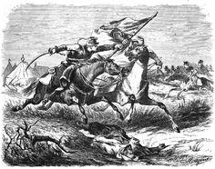 """Escena tomada del natural de la Guerra de África de 1859-1860 entre España y Marruecos publicada en el libro de Pedro Antonio de Alarcón """"Diario de un ..."""