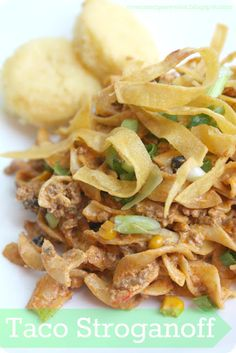Taco Stroganoff? Why not give taco night a makeover with this fun dish!
