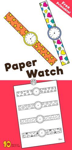 Free printable - paper watch #Freeprintable