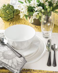Start With A Dainty Beaded Glass Dinner Plate, Then Layer In Formal Or  Casual Accents For A Table Setting To Suit Any Occasion.