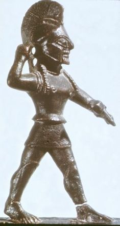 Hoplite statuette from Sparta.