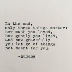 Three Things Matter