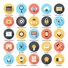 Buy SEO and Development by Vasabii on GraphicRiver. Abstract vector set of colorful flat SEO and development icons with long shadow. Archive contains easy to edit .eps a. Customer Survey, Competitive Analysis, Best Icons, Business Icon, Finance Business, Long Shadow, Market Research, Mobile Marketing, Flat Color