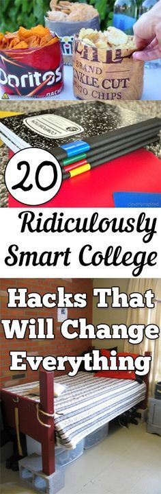20 Ridiculously Smart College Hacks That Will Change Everything - Tips and tricks you can use to survive college #Genius #CollegeLife