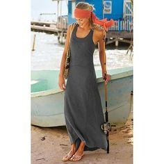 Athleta Koh Tao Maxi Dress Charcoal Grey Heather L Large   eBay