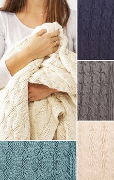 Wrap yourself in a sweater with a thick and luxurious cable knit throw. Its classic braided pattern and coziness will add warmth in the winter nights.