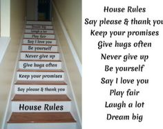 Stair Decal  Staircase Ideas  Stairway Ideas  Stairs Quotes