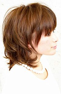 Medium Layered Bob Haircut | ... bob impressions feminine natural cute hairstyle bob length medium wave
