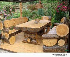 10 Gorgeously Rustic Log Tables You'll Want For Your Cabin   Off Grid World   Page 3