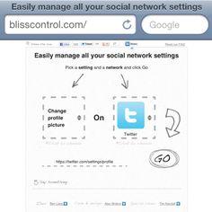 Manage your profile pics via blisscontrol