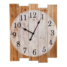 Planked Wood Wall Clock