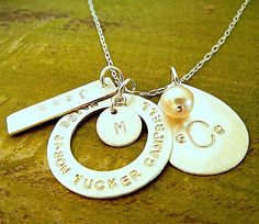 Personalized Necklace Custom Necklace Family Charm by ERiaDesigns, $74.00