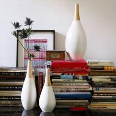 $19.99, White Ceramic Vase + Wood Top | west elm